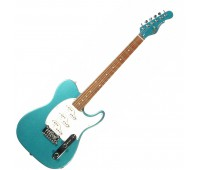 G&L ASAT Z3 (Emerald Blue, rosewood, 3-ply Pearl). №CLF51011