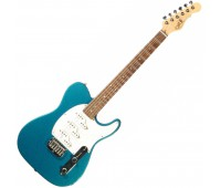 G&L ASAT Z3 (Emerald Blue, rosewood, 3-ply Pearl). № CLF45593