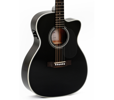 SIGMA 000MC-1E-BK + (Fishman Presys II) Акустическая гитара