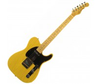G&L ASAT CLASSIC ALNICO (Butterscotch Blonde, maple, 1-ply Black). №CLF067520