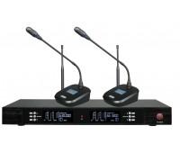 Беспроводная конференционная микрофонная система Emiter-S TA-U27C-2