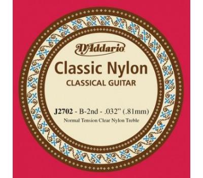 D`ADDARIO J2702 Струна B для классической гитары NORMAL
