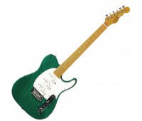 G&L ASAT Z3 (Clear Forest Green, maple, 3-ply Pearl). № CLF45565