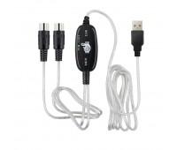 KEBIDU USB IN-OUT MIDI кабель USB-MIDI